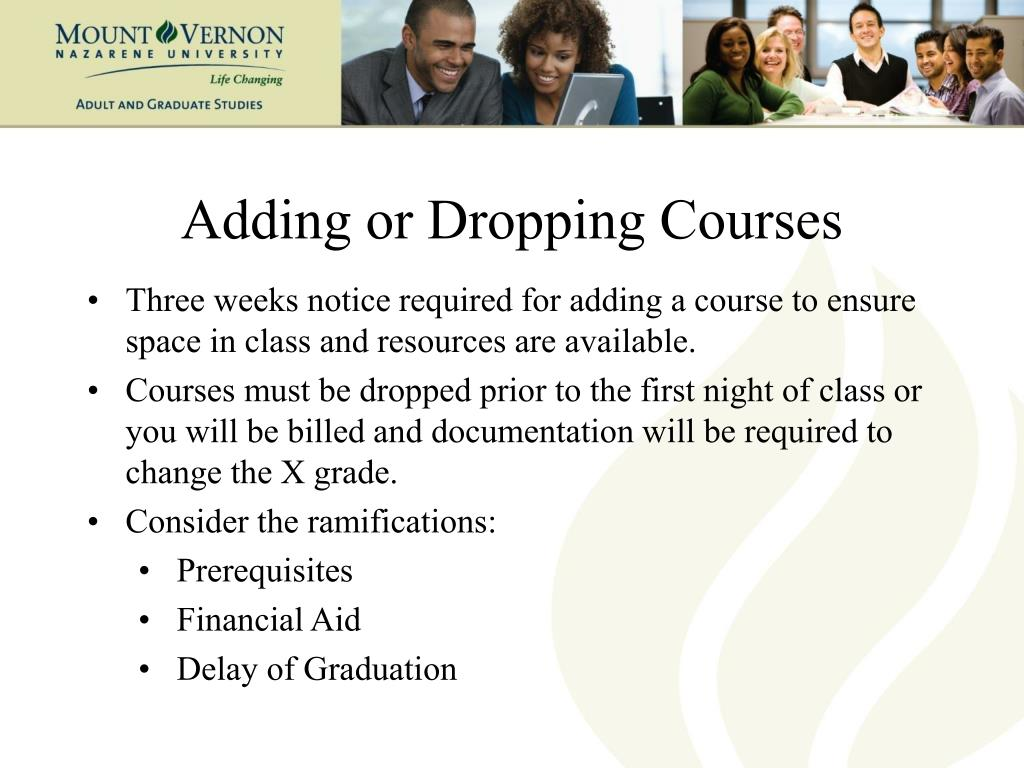 Adding or Dropping Courses