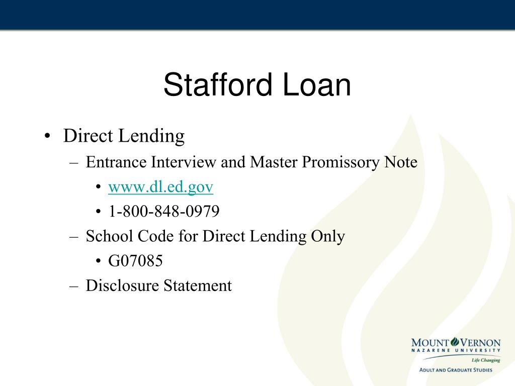 Stafford Loan