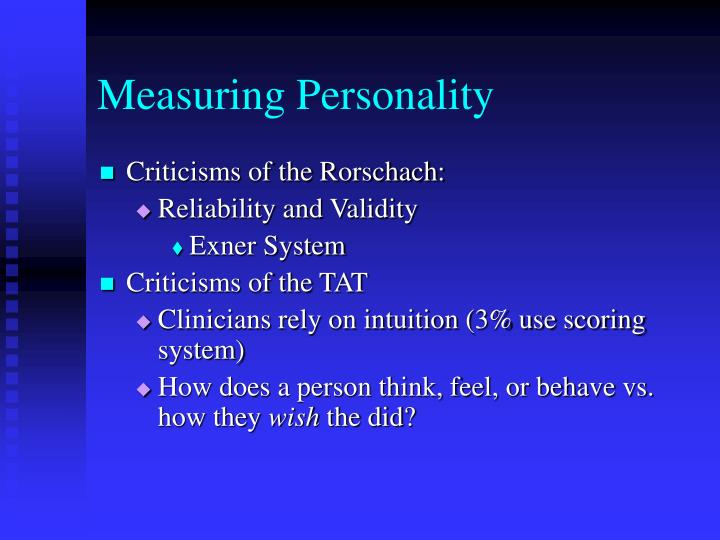 Measuring Personality