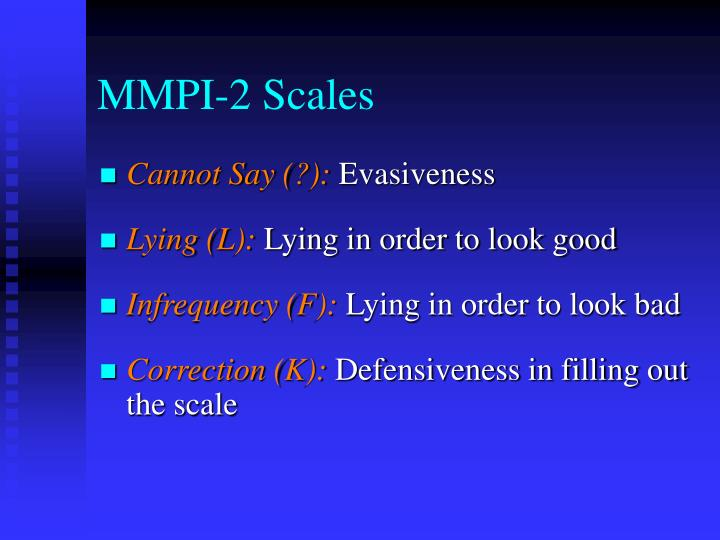 MMPI-2 Scales