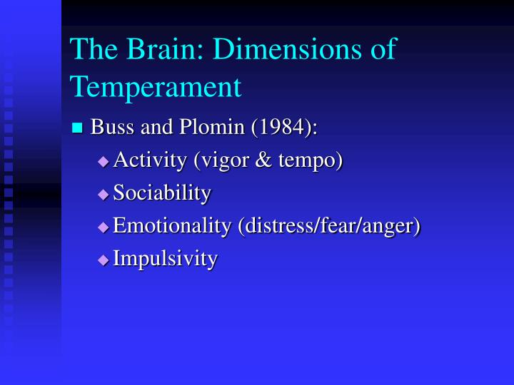 The Brain: Dimensions of Temperament