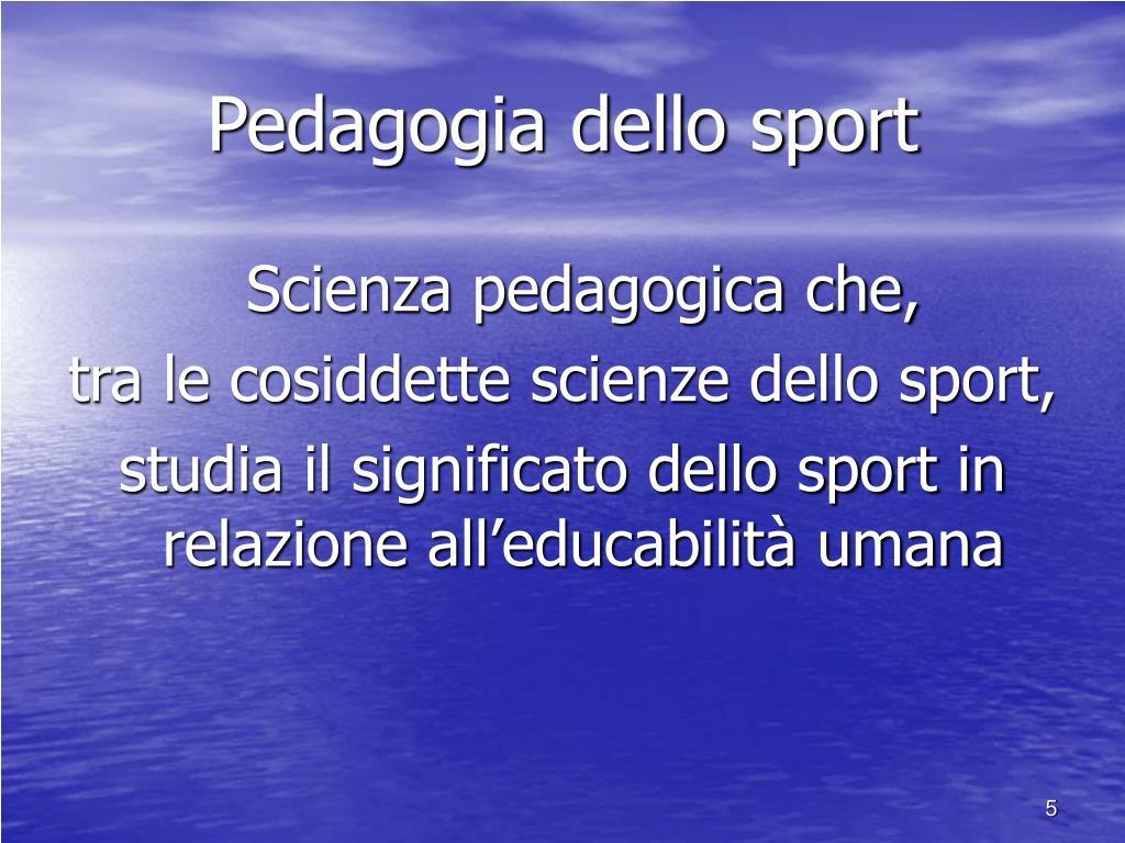 Pedagogia dello sport
