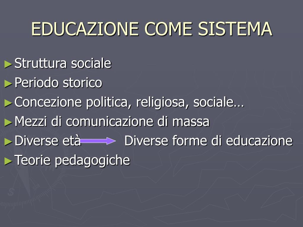 EDUCAZIONE COME