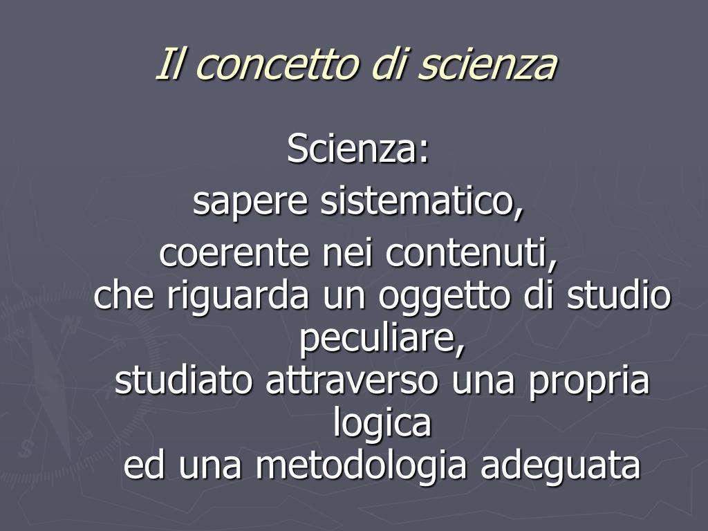 Il concetto di scienza