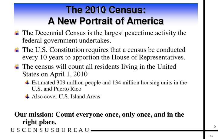 The 2010 census a new portrait of america