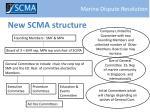new scma structure