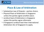 place law of arbitration
