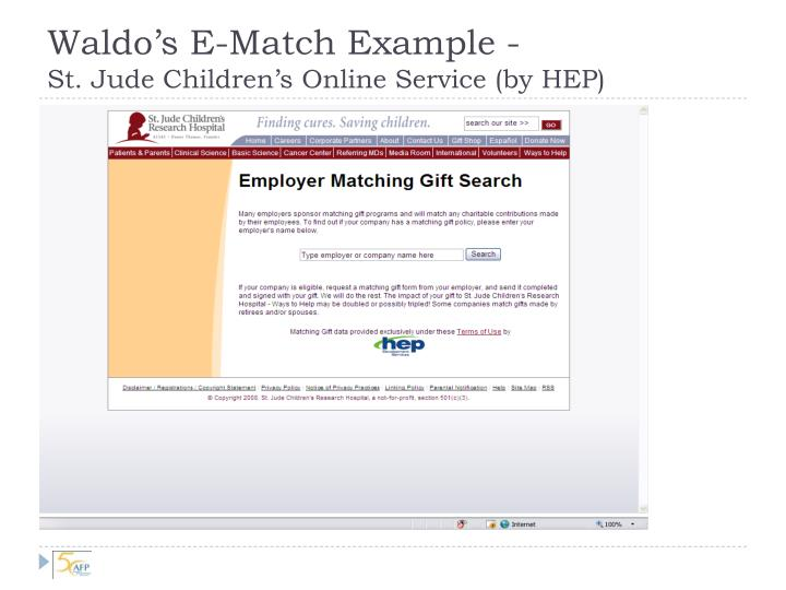 Waldo's E-Match Example -