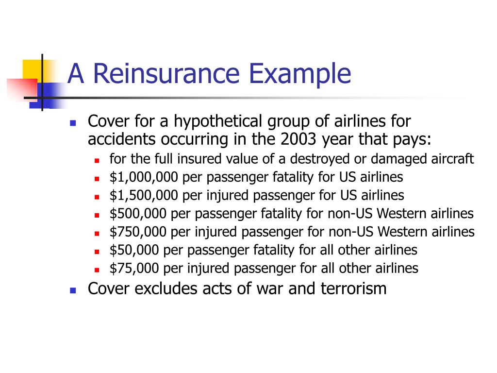 A Reinsurance Example