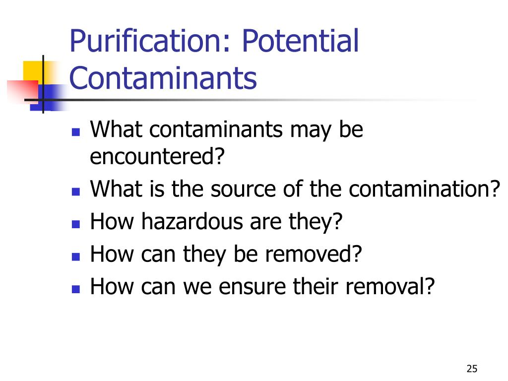 Purification: Potential Contaminants