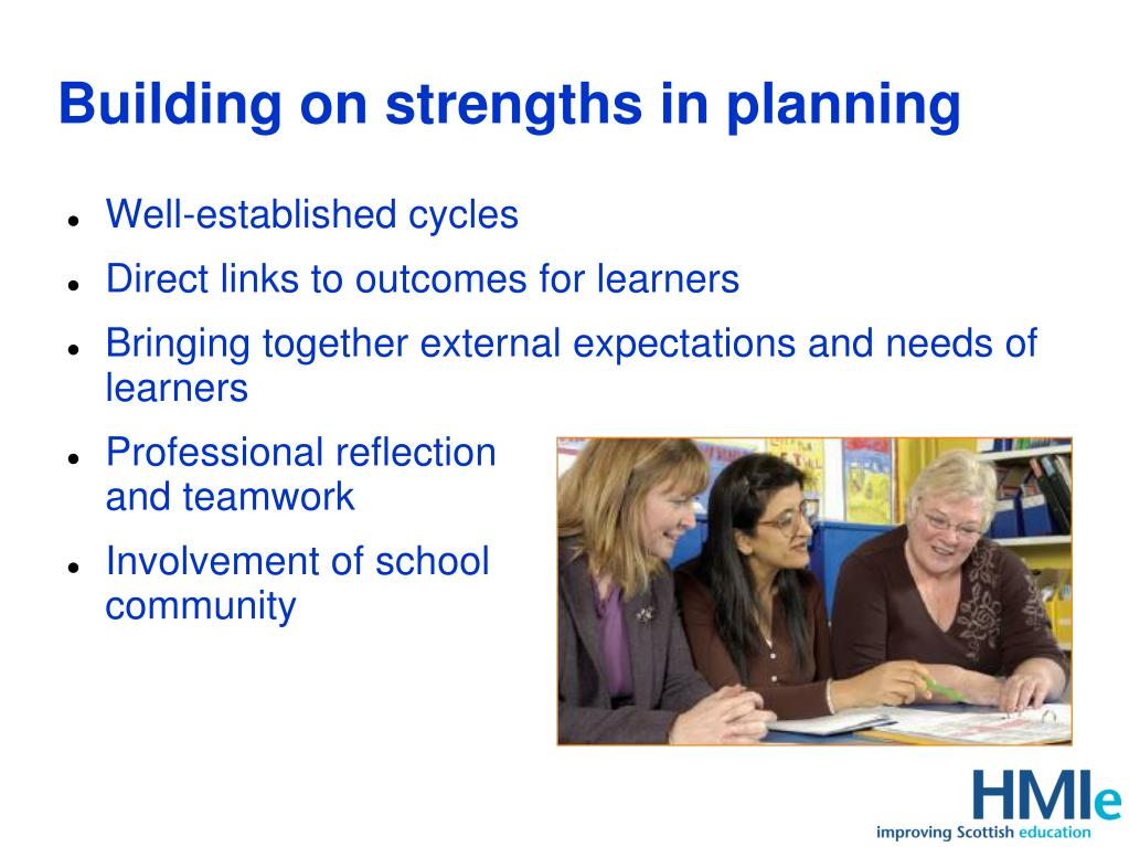 Building on strengths in planning