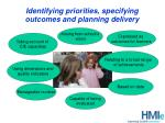 identifying priorities specifying outcomes and planning delivery