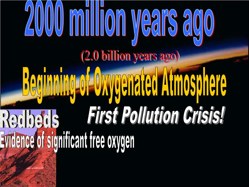 2000 million years ago