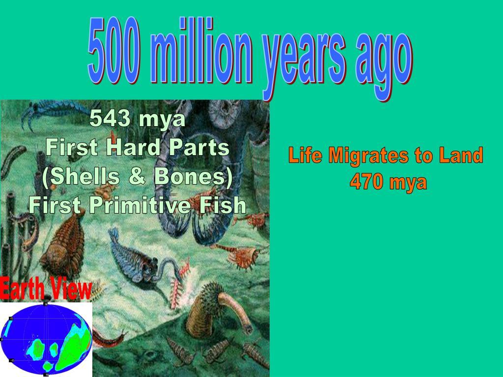 500 million years ago