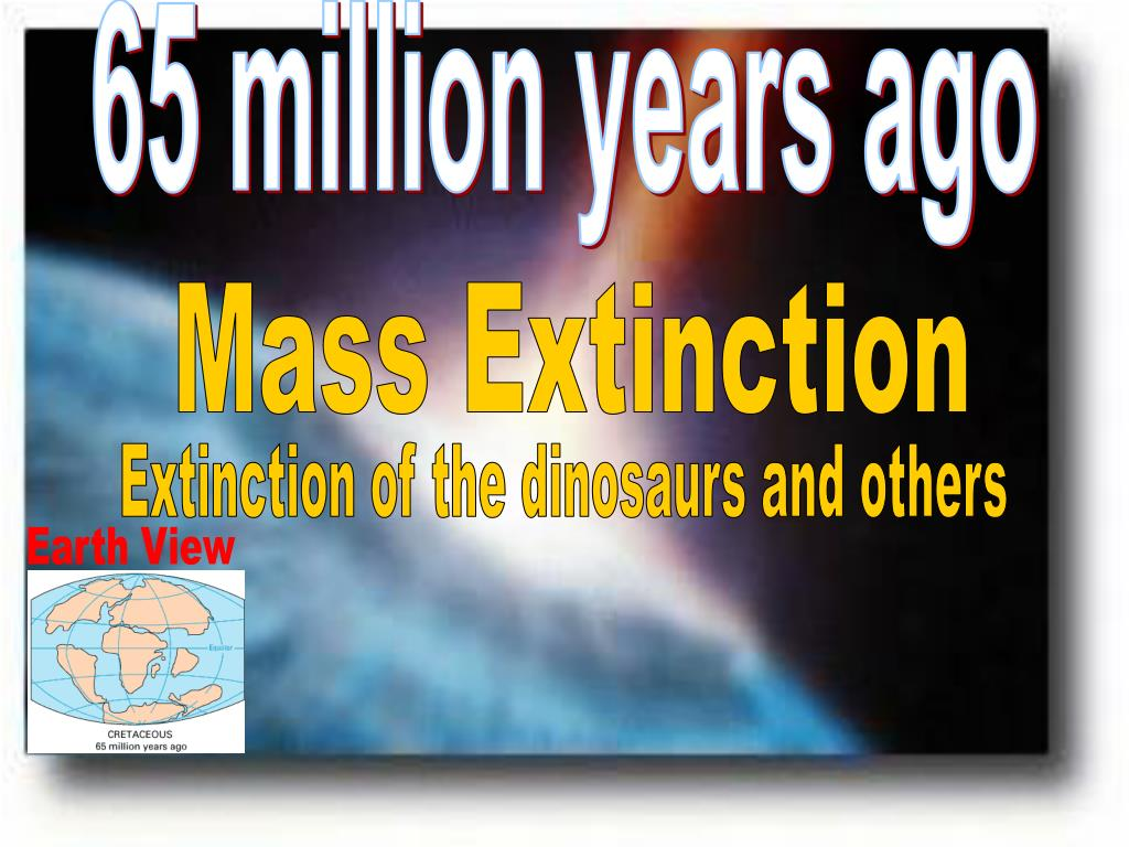 65 million years ago