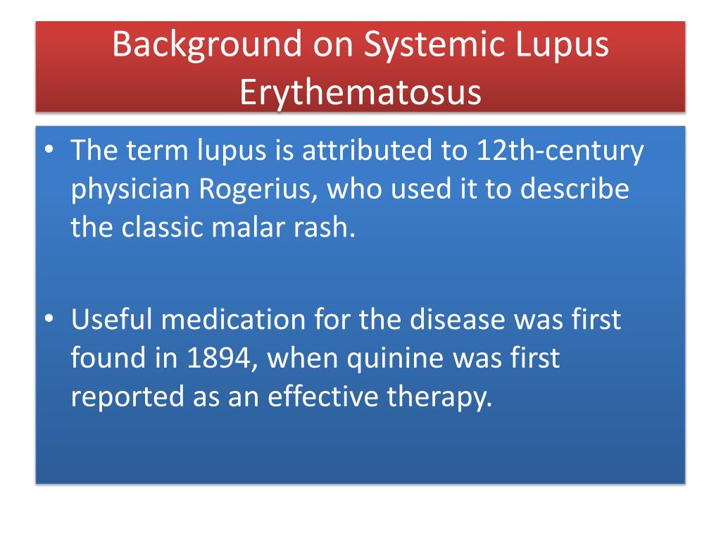 Background on Systemic Lupus Erythematosus