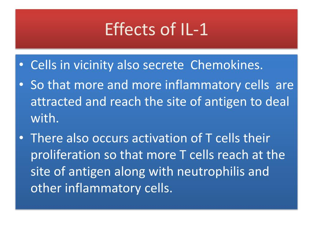 Effects of IL-1