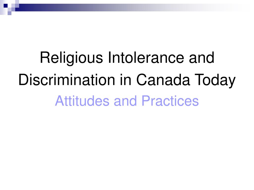 Religious Intolerance and