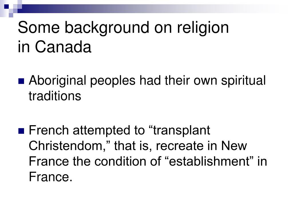 Some background on religion