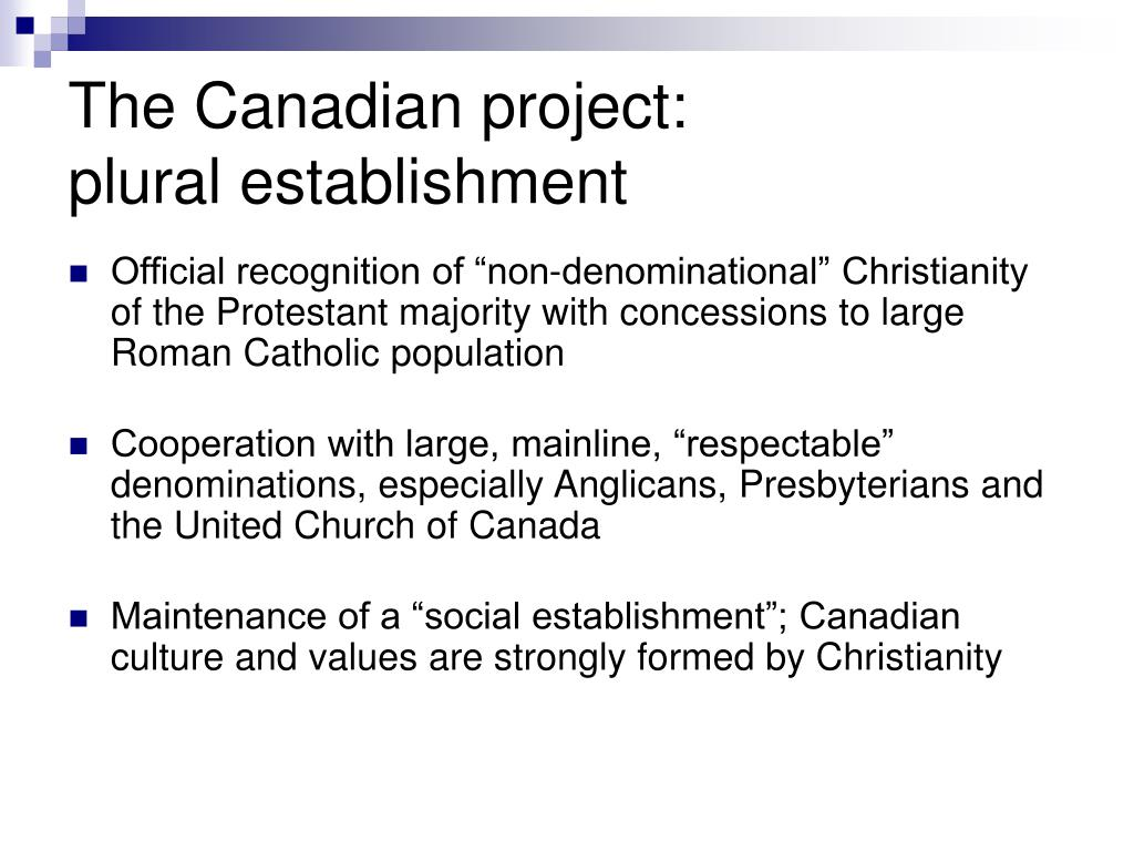 The Canadian project:
