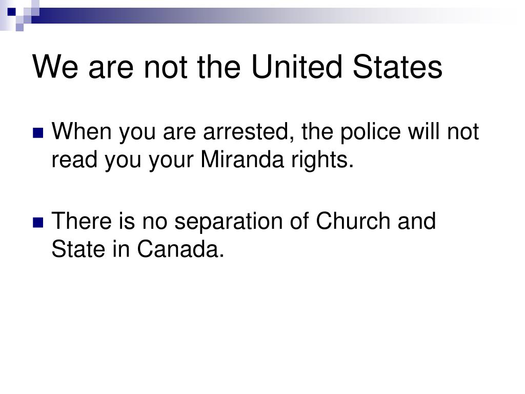 We are not the United States