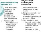 medically necessary services are