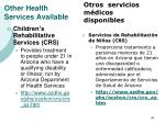 other health services available30
