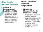 other health services available31