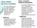 other health services available32