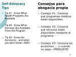 self advocacy tips