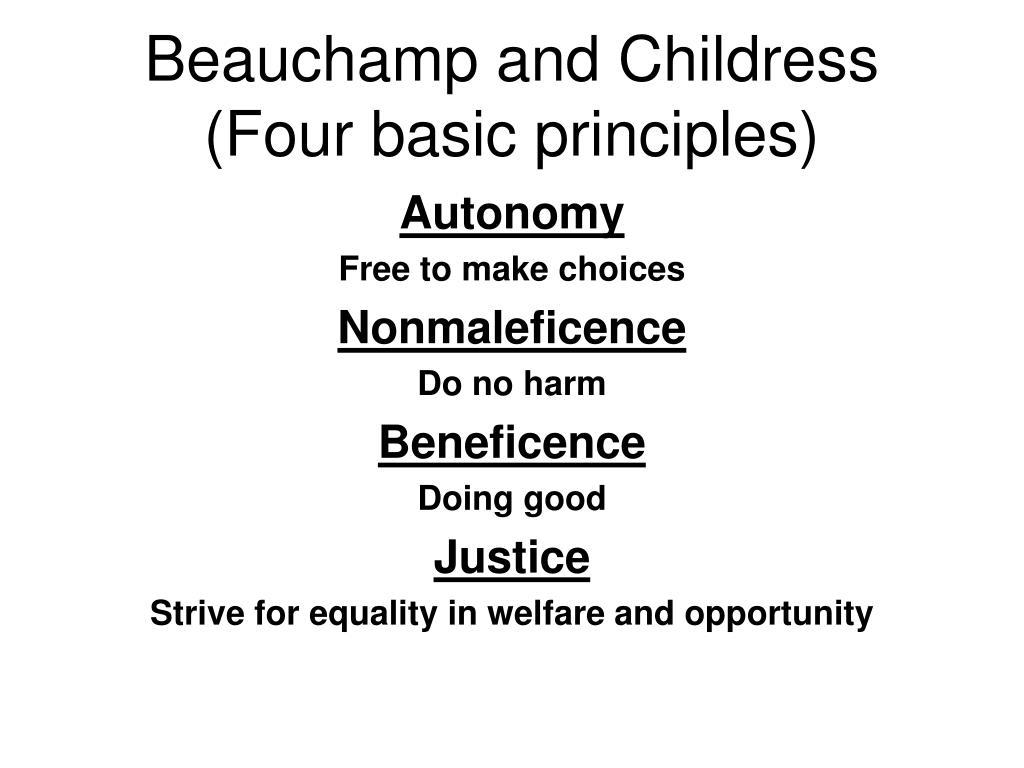 Beauchamp and Childress