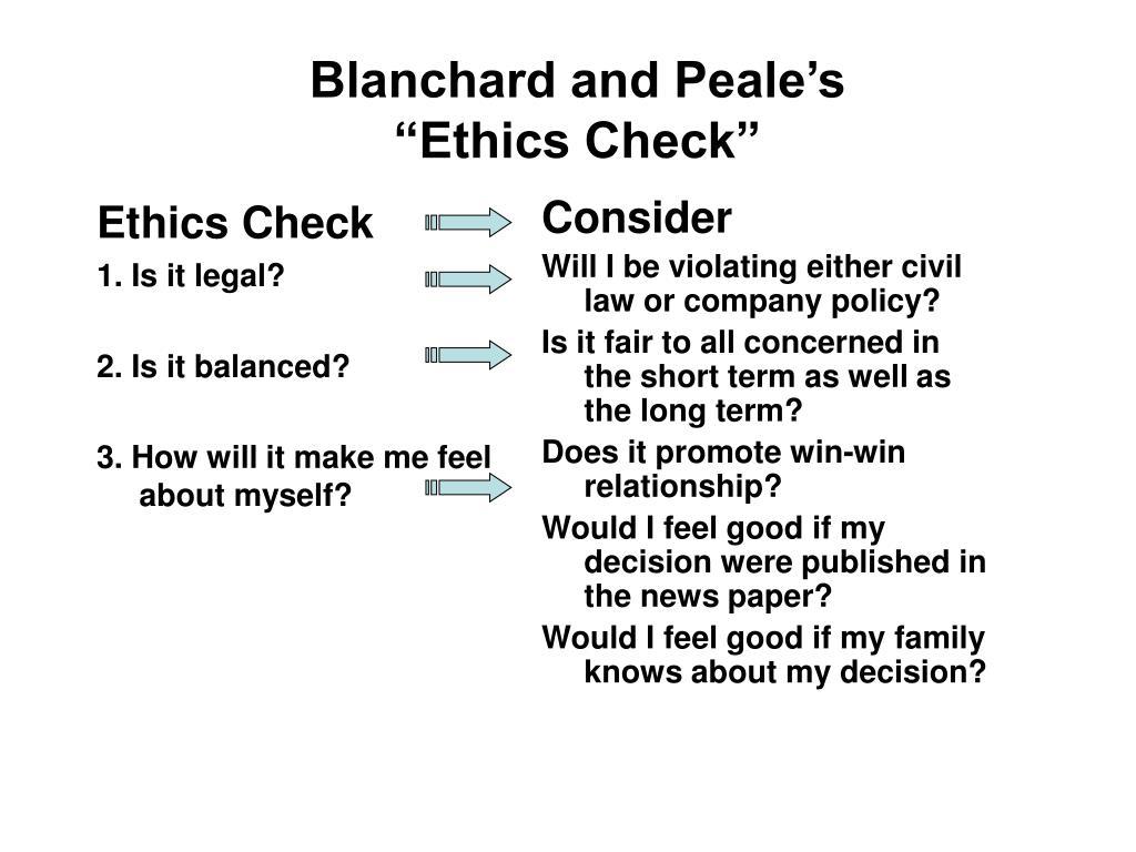 Ethics Check