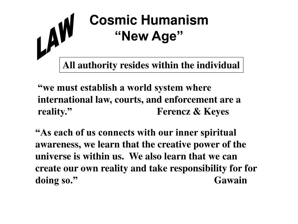 Cosmic Humanism