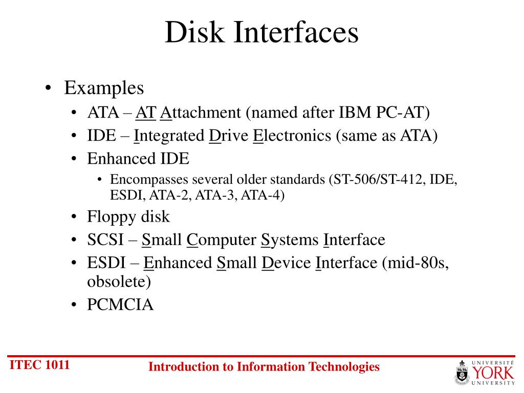Disk Interfaces