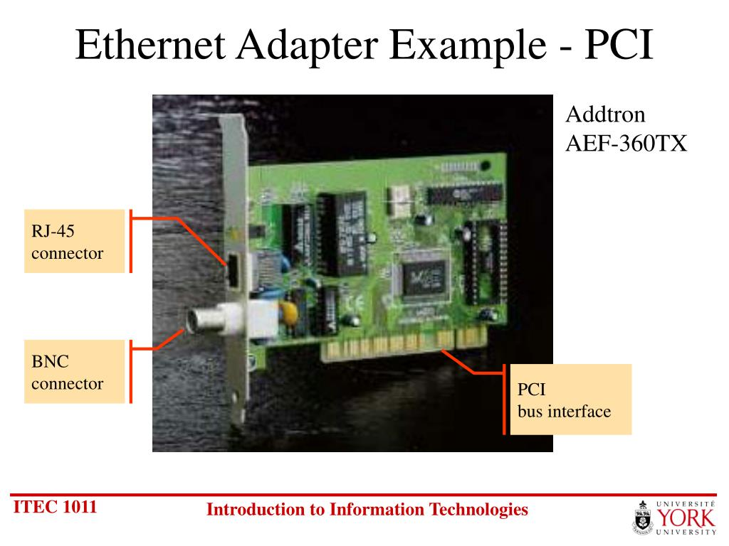 Ethernet Adapter Example - PCI