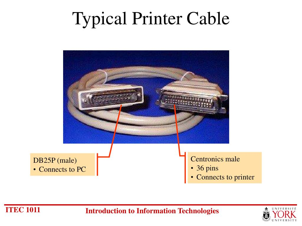 Typical Printer Cable