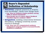 boyer s expanded definition of scholarship