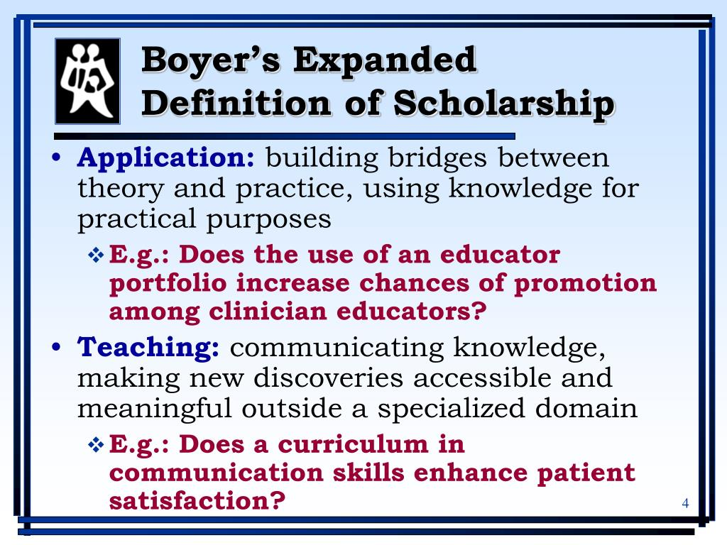 Boyer's Expanded Definition of Scholarship