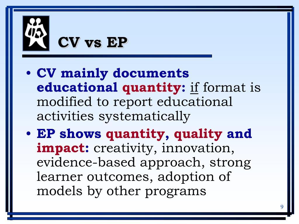 CV vs EP