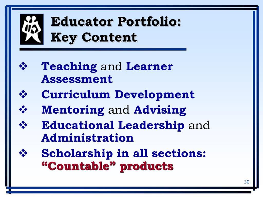 Educator Portfolio: