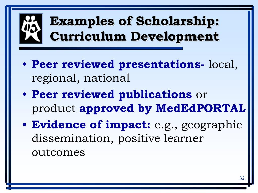 Examples of Scholarship: