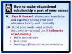 how to make educational scholarship a part of your career37