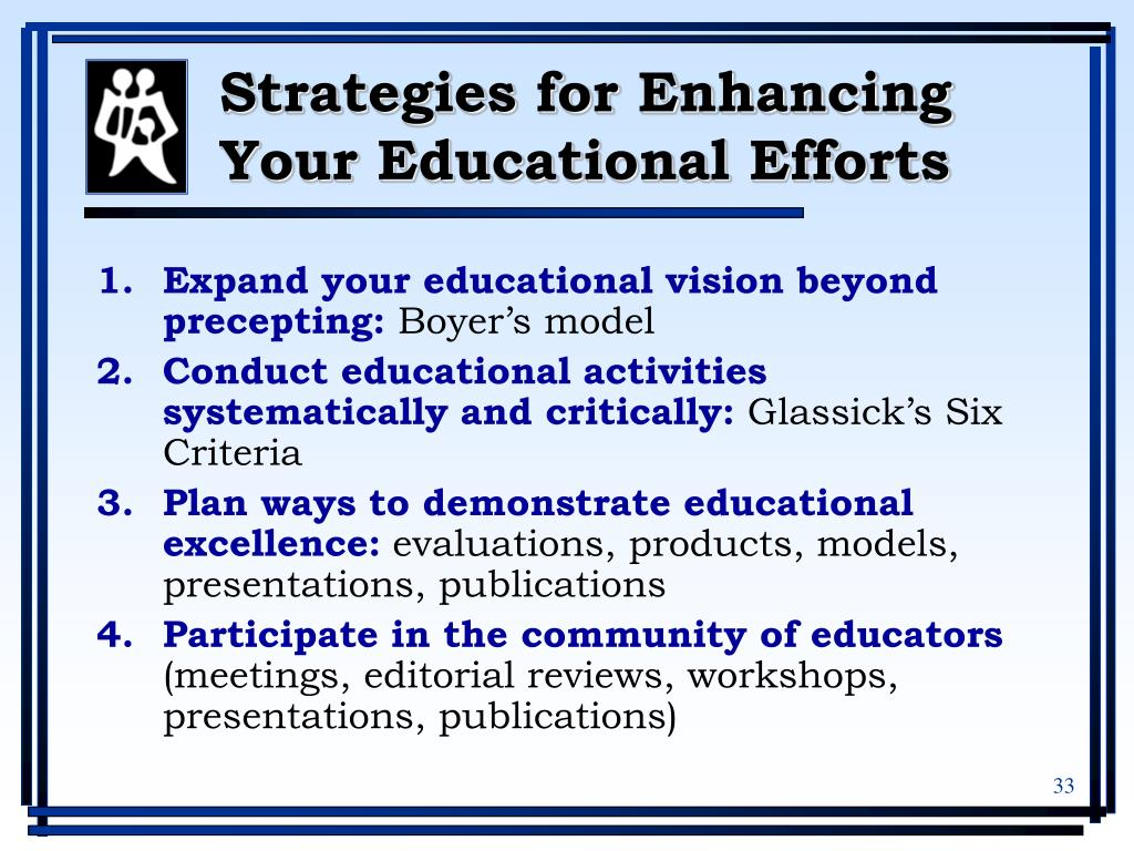 Strategies for Enhancing Your Educational Efforts