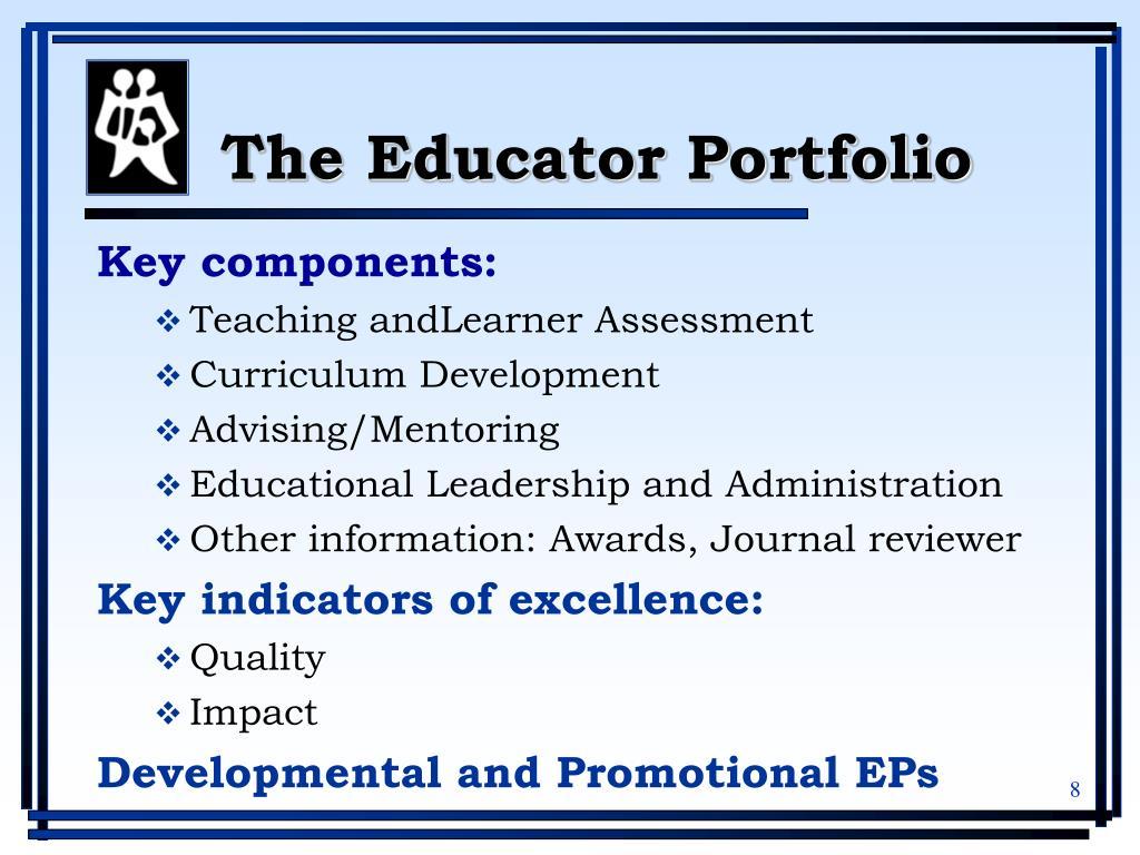 The Educator Portfolio