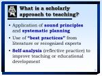 what is a scholarly approach to teaching