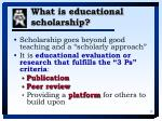 what is educational scholarship28