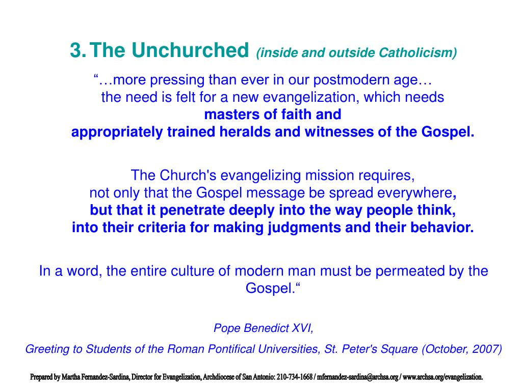 The Unchurched