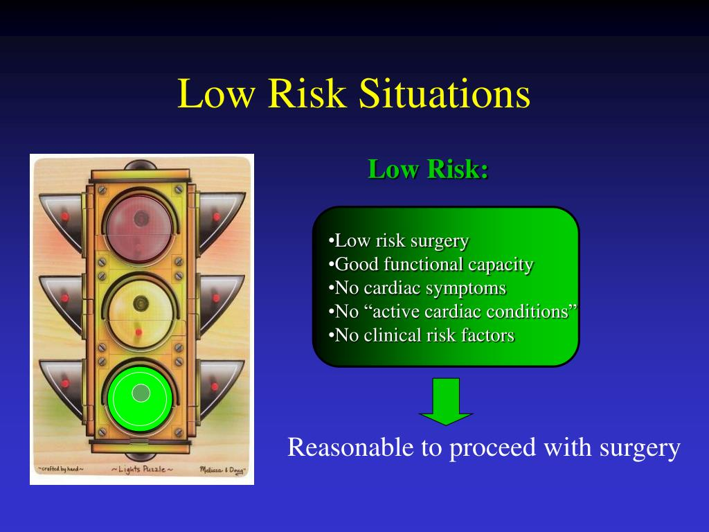 Low Risk Situations