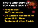 facts and support for christianity