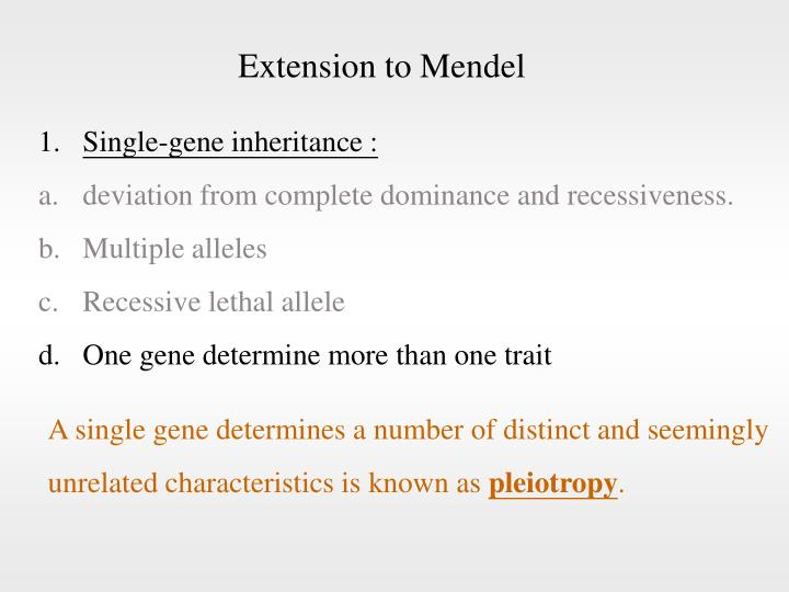 Extension to Mendel